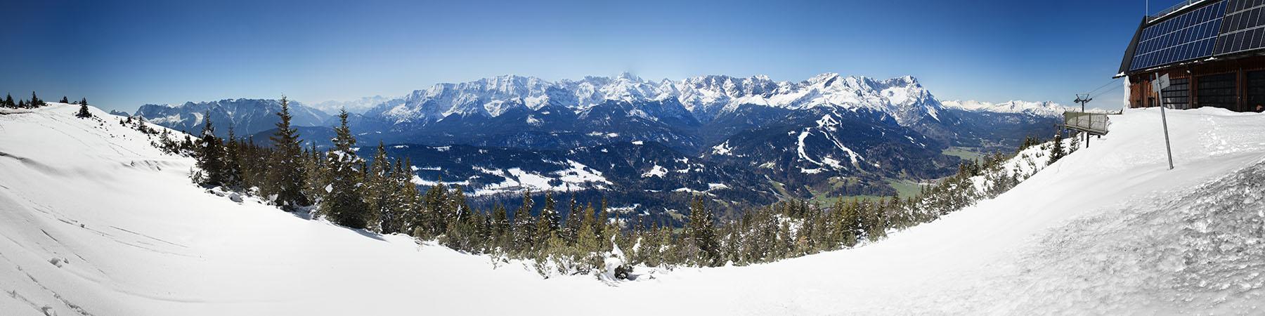 Garmisch-Partenkirchen - Der Wank - Zugspitze - Panorama - Panoramaberg